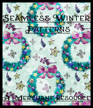 Seamless Winter Patterns 2D Graphics Merchant Resources adarling97