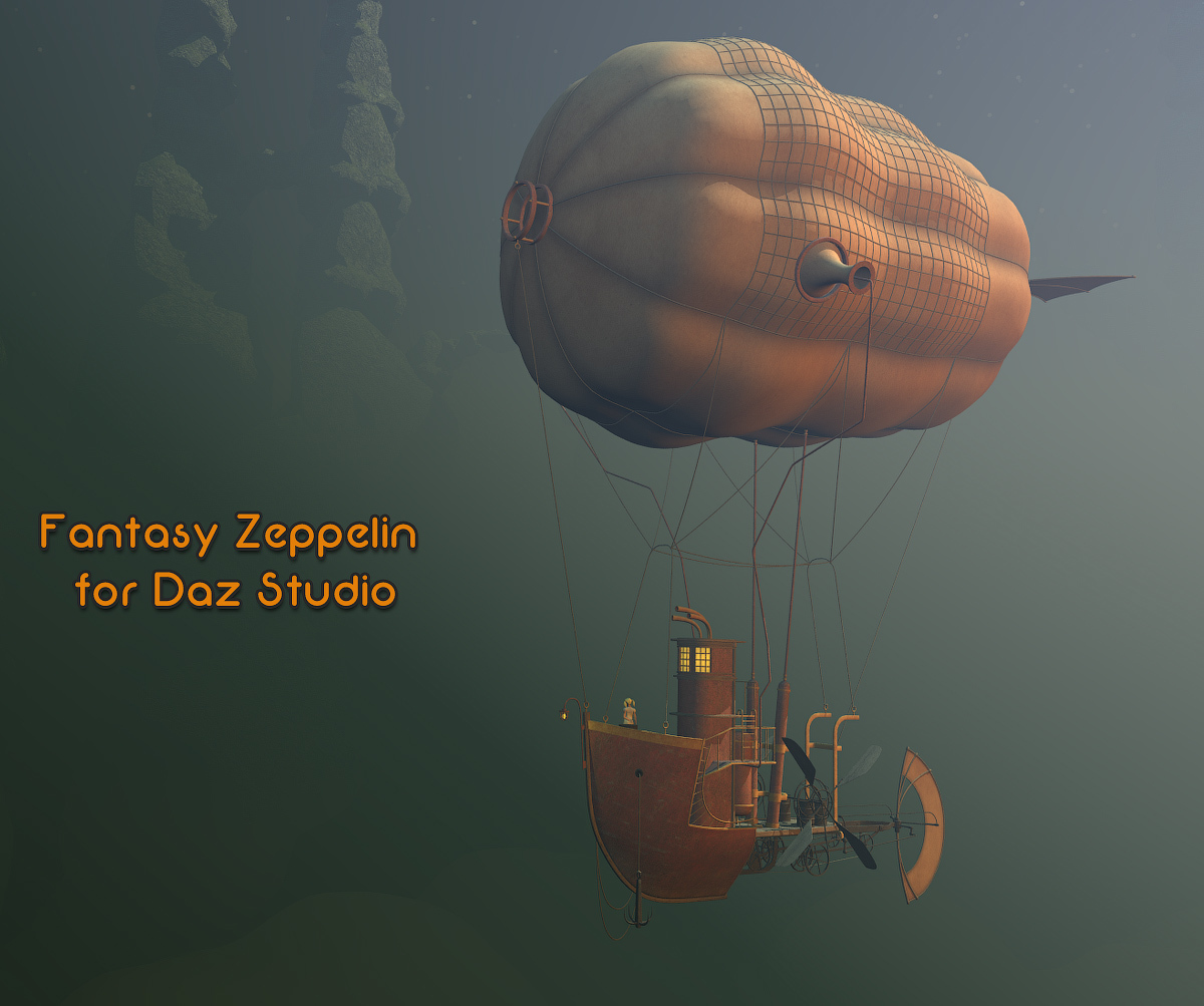 Fantasy Zeppelin for Daz Studio