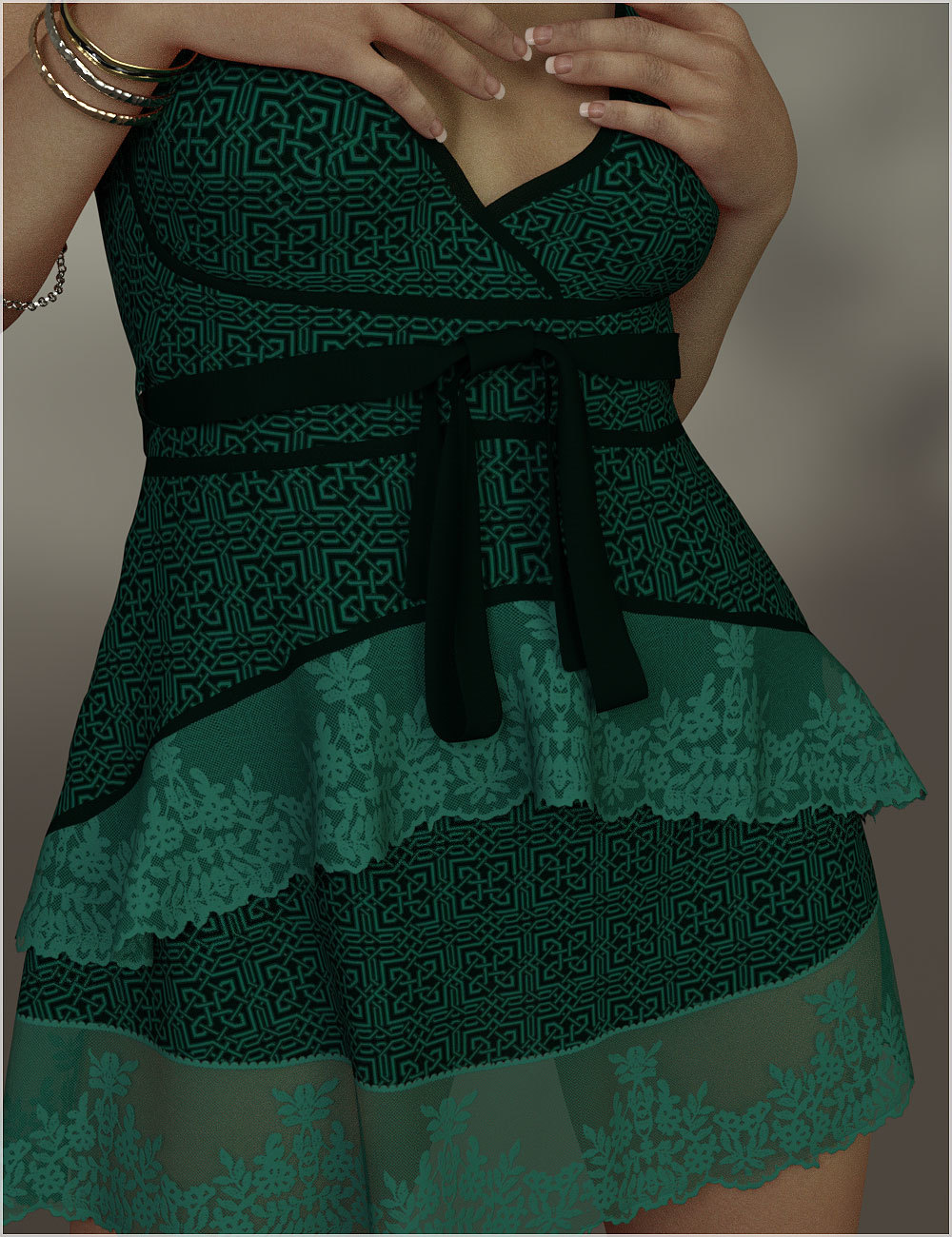 Stylish for dForce Leah Candy Dress Outfit by Belladzines