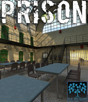 Prison for Poser 3D Models BlueTreeStudio