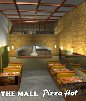 The Mall - Pizza Hot - Extended License 3D Models Extended Licenses greenpots