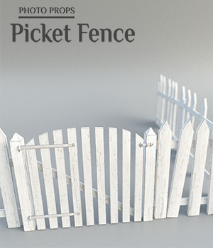 Photo Props: Picket Fence 3D Models ShaaraMuse3D