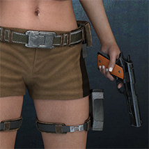 Exnem Holster & Gun for Genesis 8 Female image 1