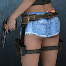 Exnem Holster & Gun for Genesis 8 Female image 5