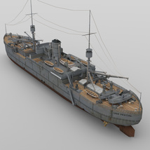 USS Vestal for DAZ Studio image 3