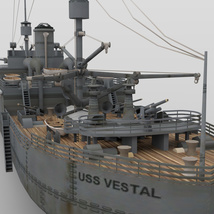USS Vestal for DAZ Studio image 5