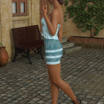 InStyle - JMR dForce Summer Town Outfit 3 for G8F image 8