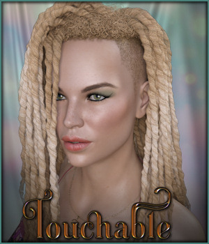 Touchable Shaved Side Dreads G8F 3D Figure Assets -Wolfie-