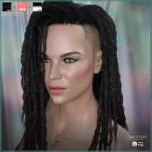 Touchable Shaved Side Dreads G8F image 5