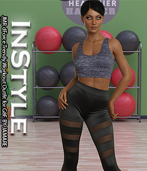 InStyle - JMR dForce Trendy Workout Outfit for G8F 3D Figure Assets -Valkyrie-