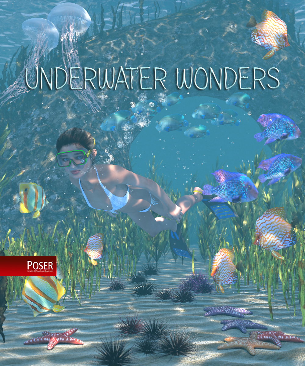 Underwater Wonders for Poser by 2nd_World