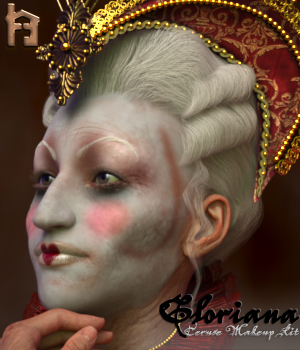 Gloriana Venetian Ceruse Makeup Kit 3D Figure Assets The_Row_House