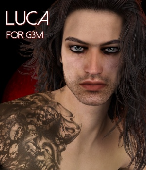 Luca for Genesis 3 Male - Extended License 3D Figure Assets Extended Licenses RedzStudio