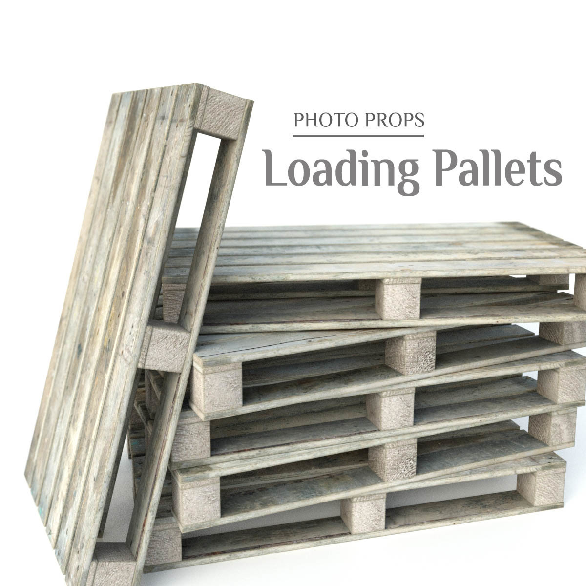 Photo Props: Loading Pallets - Extended License by ShaaraMuse3D