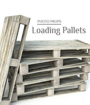 Photo Props: Loading Pallets - Extended License 3D Models Extended Licenses ShaaraMuse3D