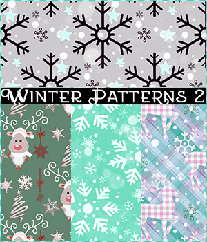 Seamless Winter Patterns 2 2D Graphics Merchant Resources antje