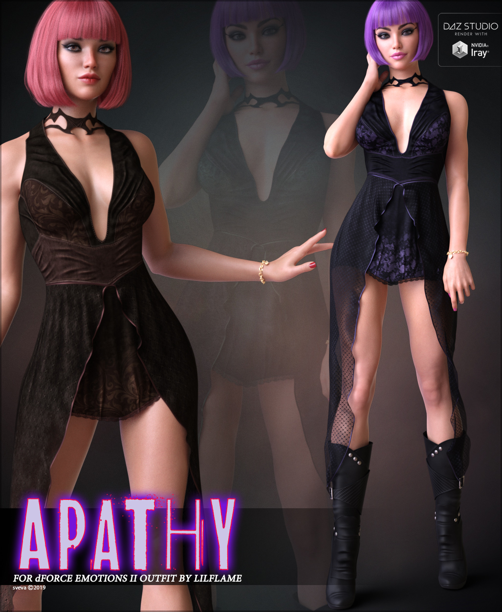 Apathy for dForce Emotions Outfit II G8F by Sveva