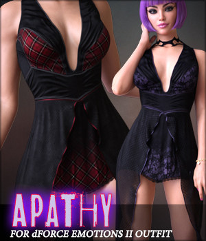 Apathy for dForce Emotions Outfit II G8F 3D Figure Assets Sveva