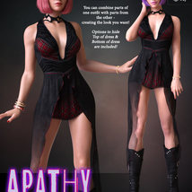 Apathy for dForce Emotions Outfit II G8F image 1