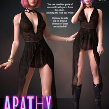 Apathy for dForce Emotions Outfit II G8F image 2