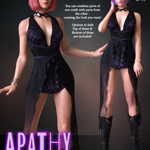 Apathy for dForce Emotions Outfit II G8F image 3