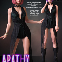 Apathy for dForce Emotions Outfit II G8F image 4