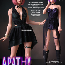 Apathy for dForce Emotions Outfit II G8F image 6