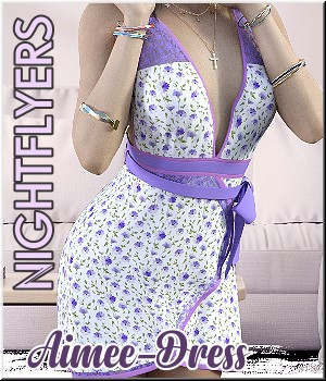 Nightflyers- Candy Aimee-Dress 3D Figure Assets LUNA3D