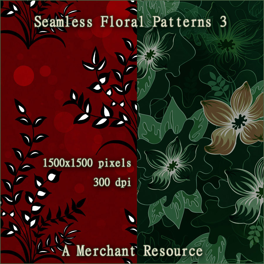 Seamless Floral Patterns 3  by antje