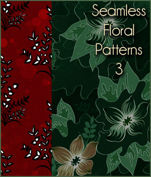 Seamless Floral Patterns 3  2D Graphics Merchant Resources antje