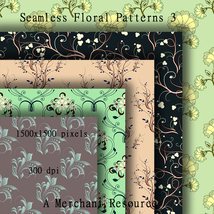 Seamless Floral Patterns 3  image 3