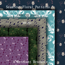Seamless Floral Patterns 3  image 4