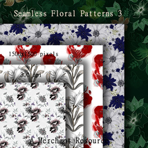 Seamless Floral Patterns 3  image 9