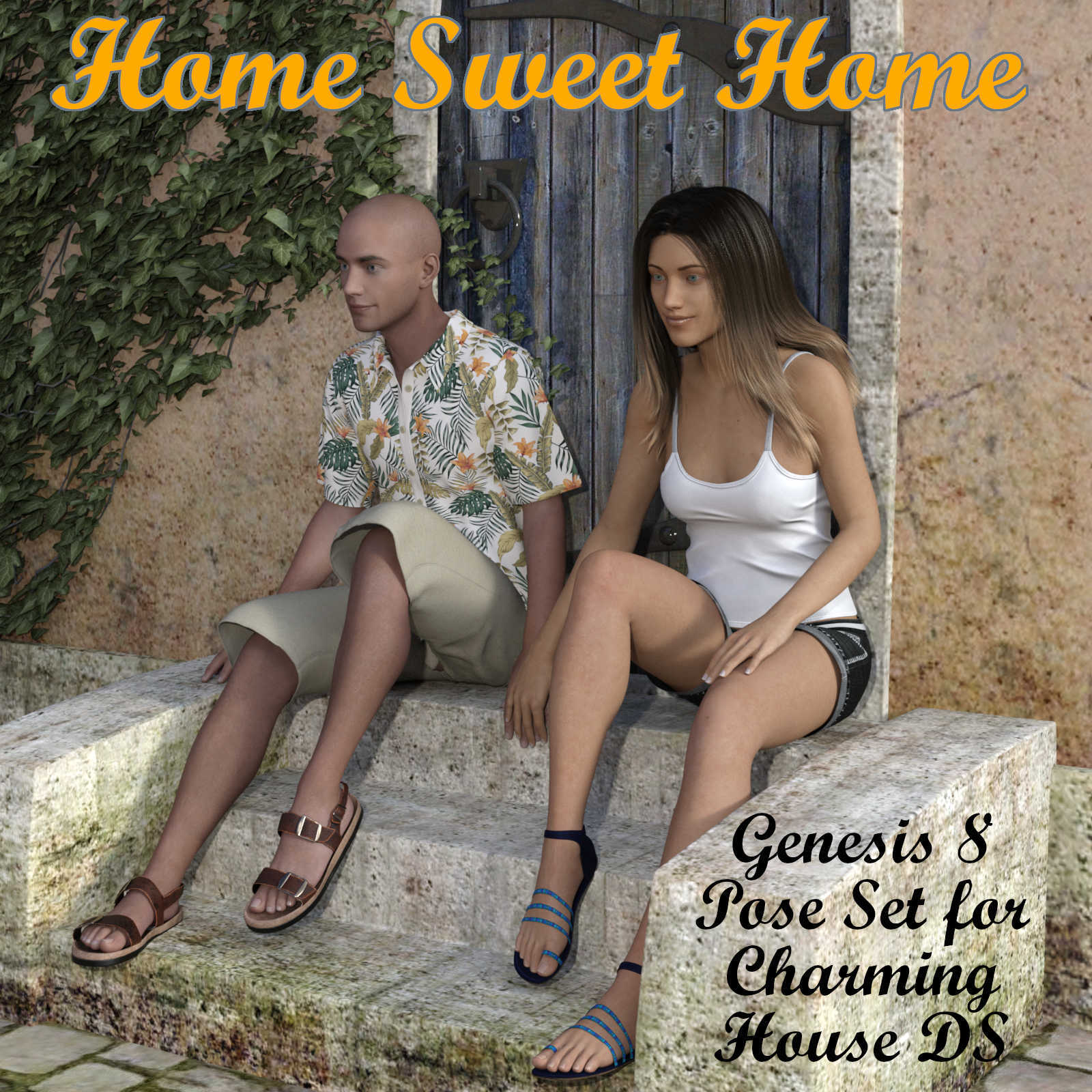 HOME SWEET HOME Poses for Charming House DS and Genesis 8 Figures (G8F/G8M)
