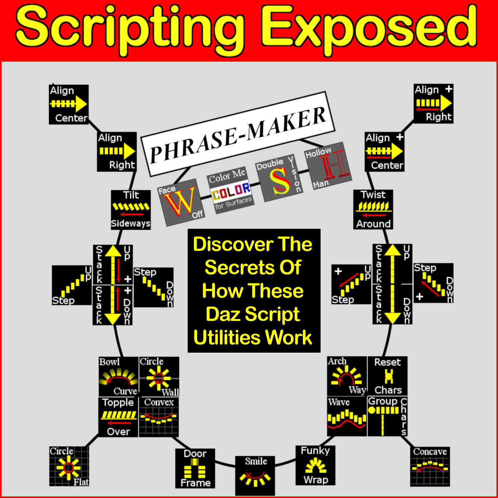 SCRIPTING EXPOSED Phrase-Maker Utilities, The Uncensored Daz Script Source Code by Winterbrose