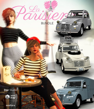 La Parisienne Bundle for DS 3D Figure Assets 3D Models pamawo
