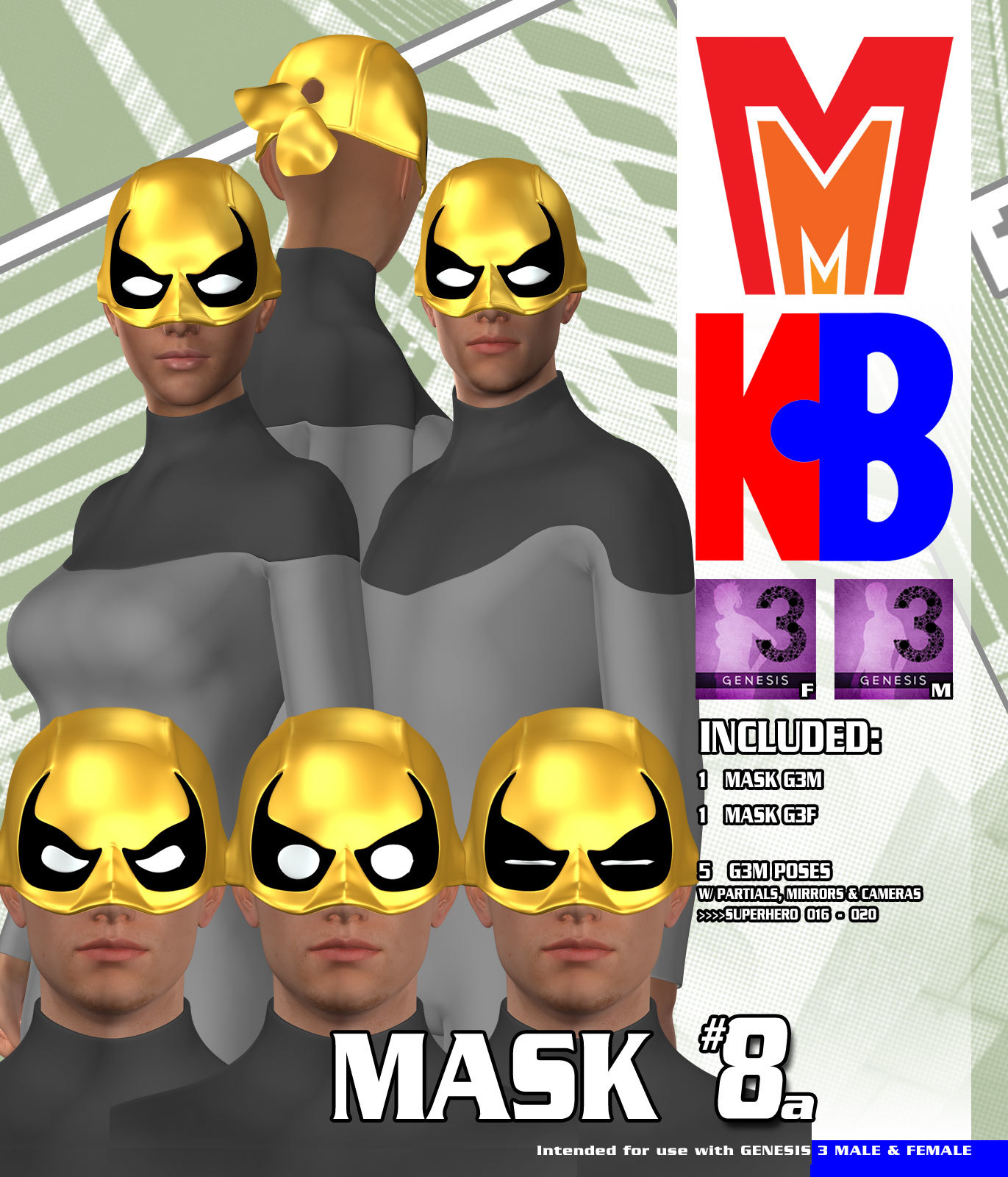Mask 008A MMKBG3 by MightyMite
