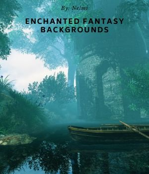 12 Enchanted Fantasy Backgrounds 2D Graphics nelmi