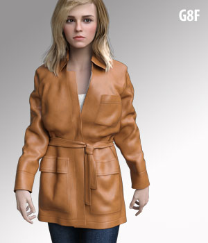 dForce G8FH Coat for G8F 3D Figure Assets kobamax