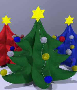 Plush Xmas Tree 3D Models darkprojectworks