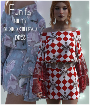 Fun for Boho Calypso Dress 3D Figure Assets antje