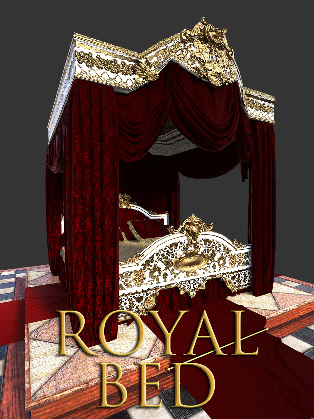 Royal Bed for DS Iray by powerage