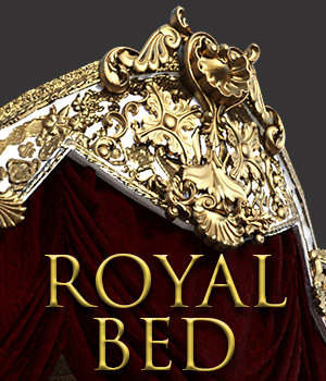 Royal Bed for DS Iray 3D Models powerage
