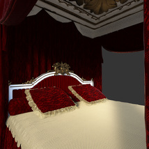 Royal Bed for DS Iray image 1