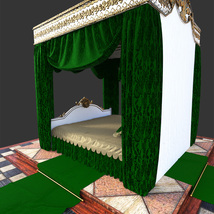 Royal Bed for DS Iray image 2