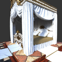 Royal Bed for DS Iray image 3