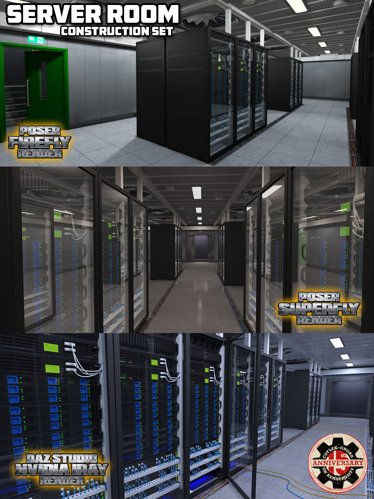 Server Room for Poser and DS by coflek-gnorg