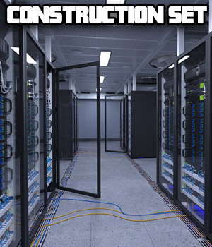 Server Room for Poser and DS 3D Models coflek-gnorg