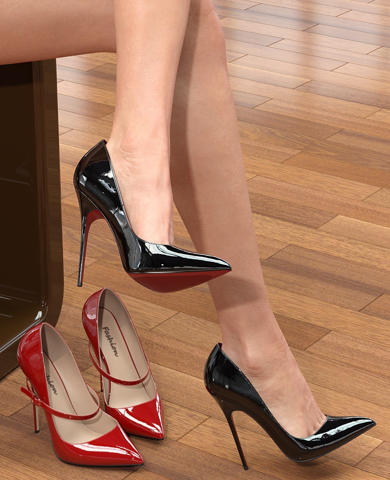 Spike Heel Pumps For G8F by idler168
