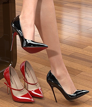 Spike Heel Pumps For G8F 3D Figure Assets idler168